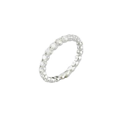 BAGUE OR GRIS 750/00 DIAMANT TOUR COMPLET 1,47 CT