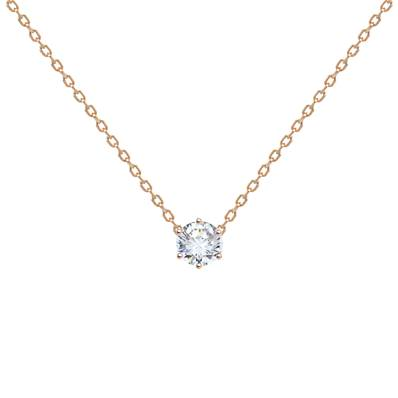 COLLIER OR ROSE 750/00 DIAMANT 0,10CT