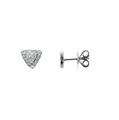 BO OR GRIS 750/00 DIAMANT TRIANGLE 0,25 CT