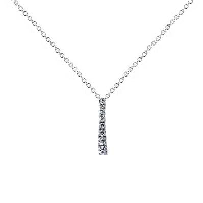 COLLIER OR GRIS 750/00 DIAMANT ROND 0,30 CT