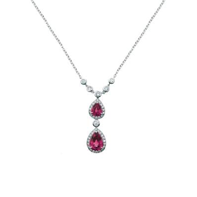 COLLIER OR GRIS  750/00 RUBIS 1,26 CT
