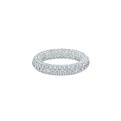 BAGUE OR GRIS 750/00 DIAMANT ROND 4,49 CT