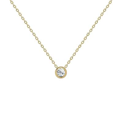 COLLIER OR JAUNE 750/00 DIAMANT 0,10CT