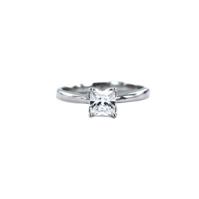 BAGUE OR GRIS 750/00 DIAMANT PRINCESSE 0,70 CT
