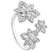 BAGUE OR GRIS 750/00 66 DIAMANTS BLANCS 0.56CT