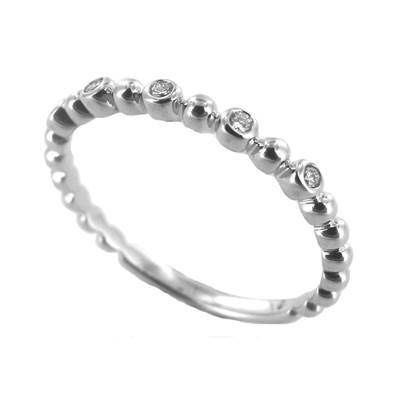 BAGUE OR GRIS 750/00 DIAMANT 0,05 CT